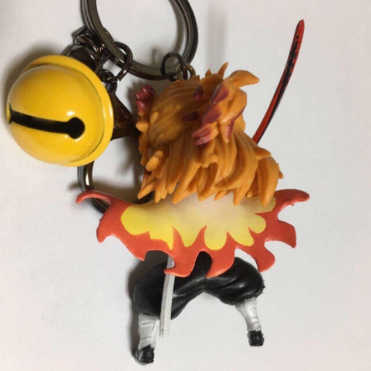 煉獄さんフィギュアキーホルダー/鈴付き/鬼滅の刃/炎柱 煉獄杏寿郎/キーリング