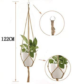 グリーン Wolfride 3本セット ポットハンガー プラントハンガー ハンギングプランター 麻縄 観葉植物 鉢植え用 鉢 _画像3