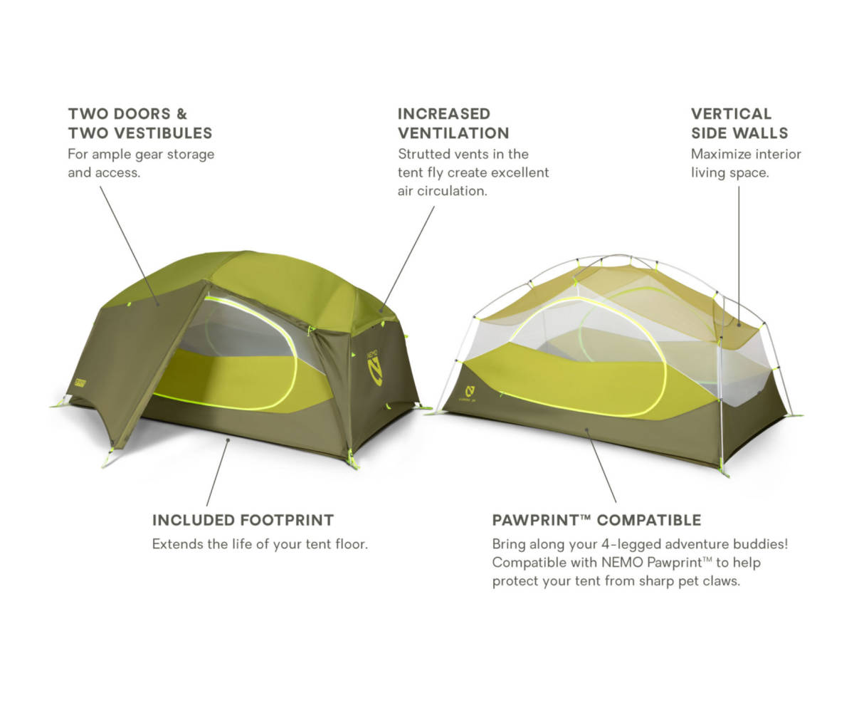 1-19 ★ニーモ オーロラ2 テント・NEMO AURORA(登山、キャンプ、アウトドア、ハイキング、ツーリング