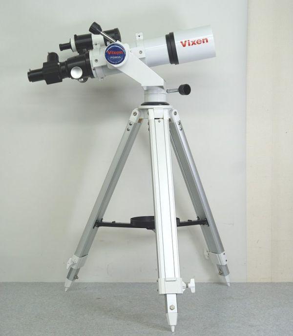 Vixen ビクセン ED80SF 天体望遠鏡 鏡筒 PORTA II 経緯台 三脚 取説ケース付 □m33161416g