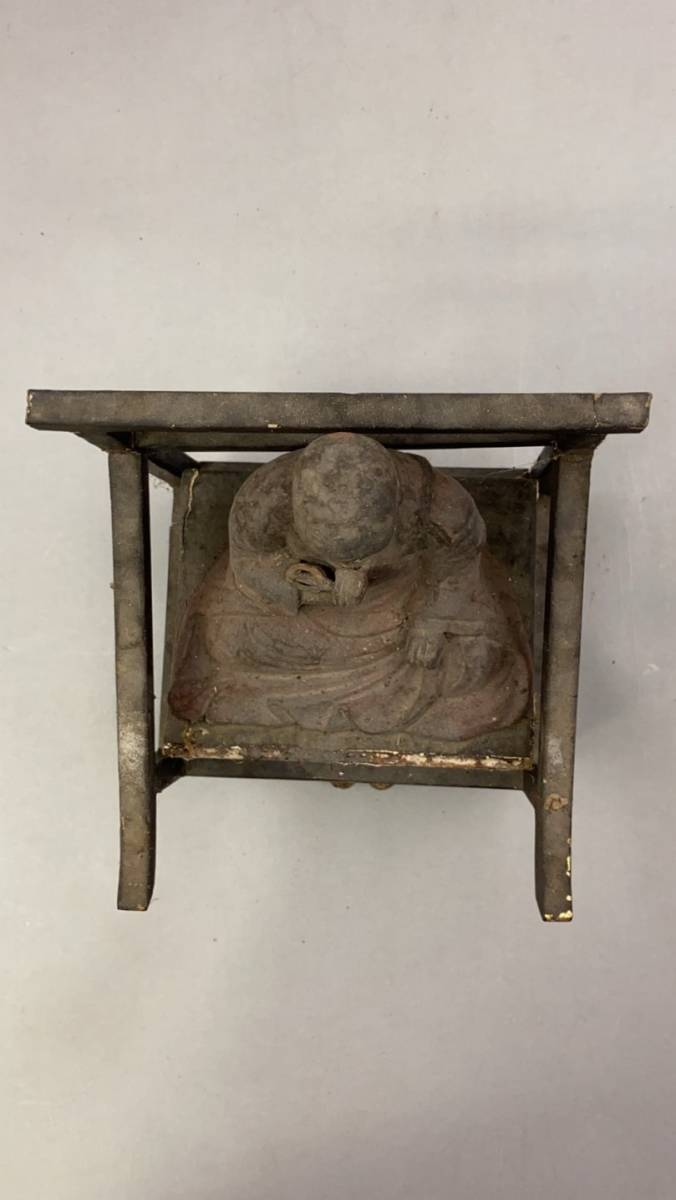 江戸期 骨董 古美術 仏教美術 空海 弘法大師座像 _画像6