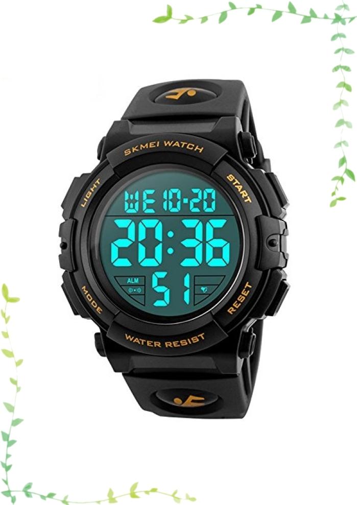【新品】Timever(タイムエバー)デジタル腕時計 メンズ 防水腕時計 led watch スポーツウォッチ アラーム ストップ_画像1