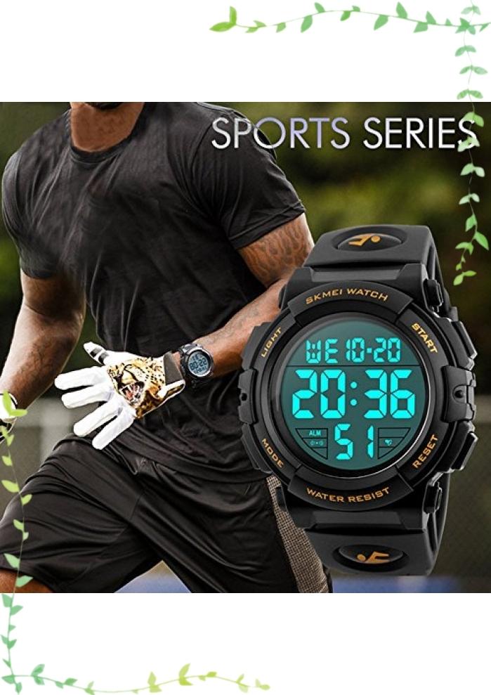 【新品】Timever(タイムエバー)デジタル腕時計 メンズ 防水腕時計 led watch スポーツウォッチ アラーム ストップ_画像3