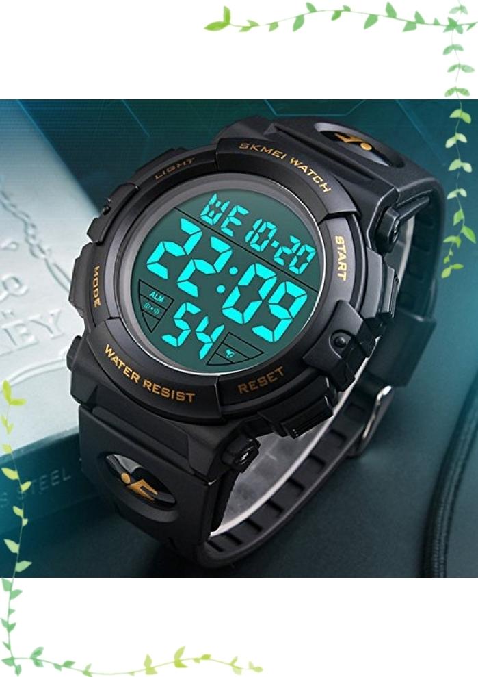 【新品】Timever(タイムエバー)デジタル腕時計 メンズ 防水腕時計 led watch スポーツウォッチ アラーム ストップ_画像2