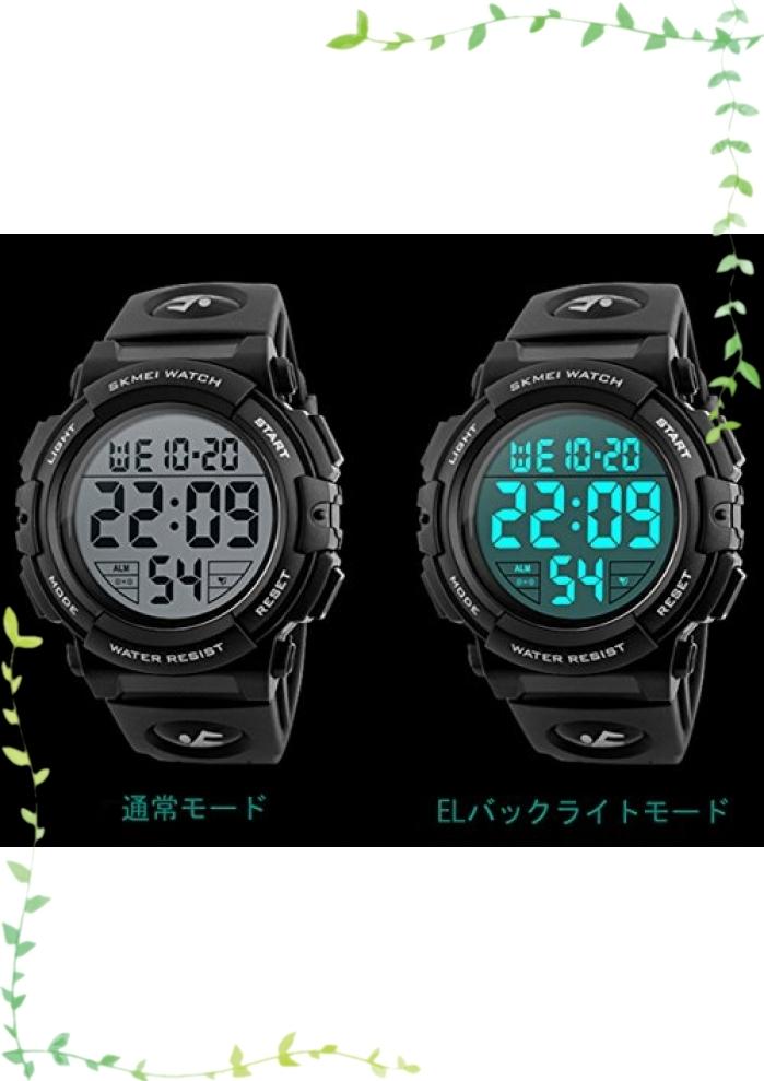 【新品】Timever(タイムエバー)デジタル腕時計 メンズ 防水腕時計 led watch スポーツウォッチ アラーム ストップ_画像4