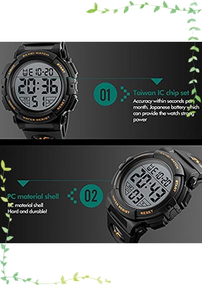 【新品】Timever(タイムエバー)デジタル腕時計 メンズ 防水腕時計 led watch スポーツウォッチ アラーム ストップ_画像6