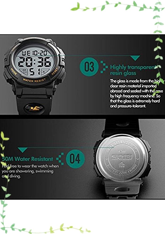 【新品】Timever(タイムエバー)デジタル腕時計 メンズ 防水腕時計 led watch スポーツウォッチ アラーム ストップ_画像7