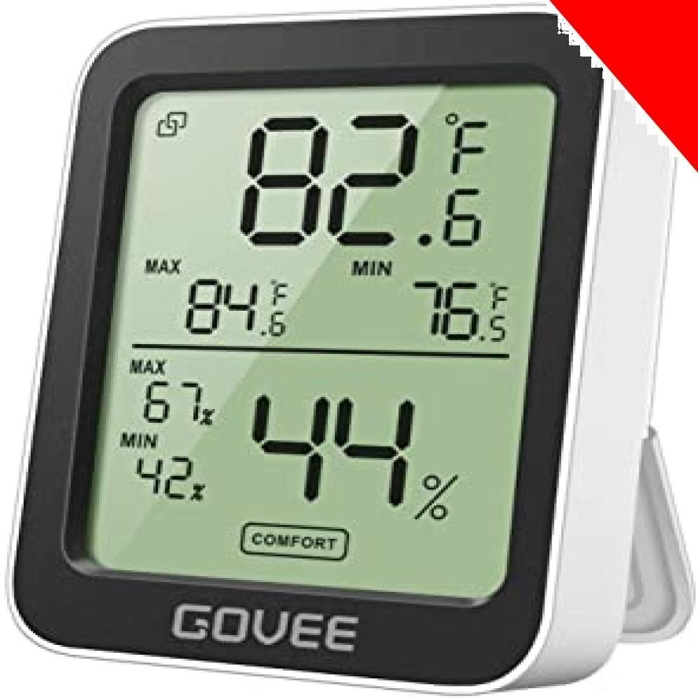 ★ホワイト 10*7*3CM デジタル温湿度計 温度計 湿度計 Govee 3段階の快適度目安表示 LCD大画面 アプリコントロ_画像1