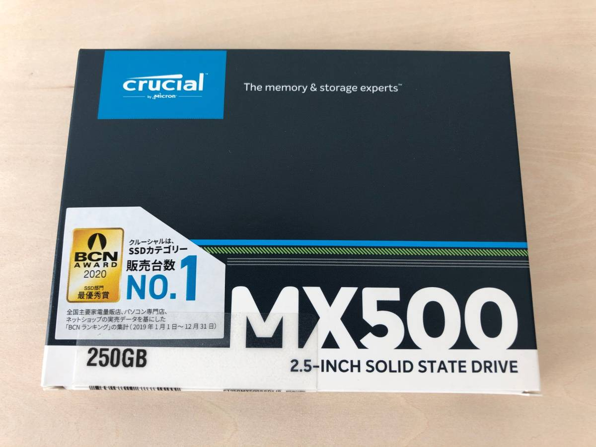 送料無料 新品未開封 Crucial SSD MX500 250GB SATA 2.5インチ 7mm 3D NAND TLC SATA CT250MX500SSD1