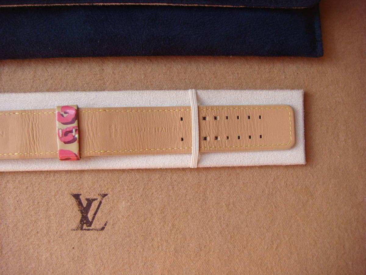 ルイヴィトン タンブール レディース専用 レオパード柄 替えベルト バンド 尾錠付き Sサイズ ホワイト 腕時計_画像3