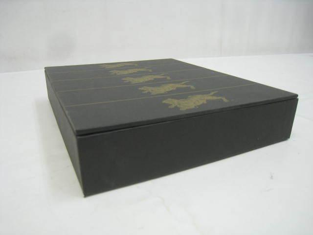 ※箱のみ レトロ 虎屋 とらや 羊羹 ようかん 空箱 黒 ブラック IN イエロー サイズ 約23.5×20×4.5cm_画像3