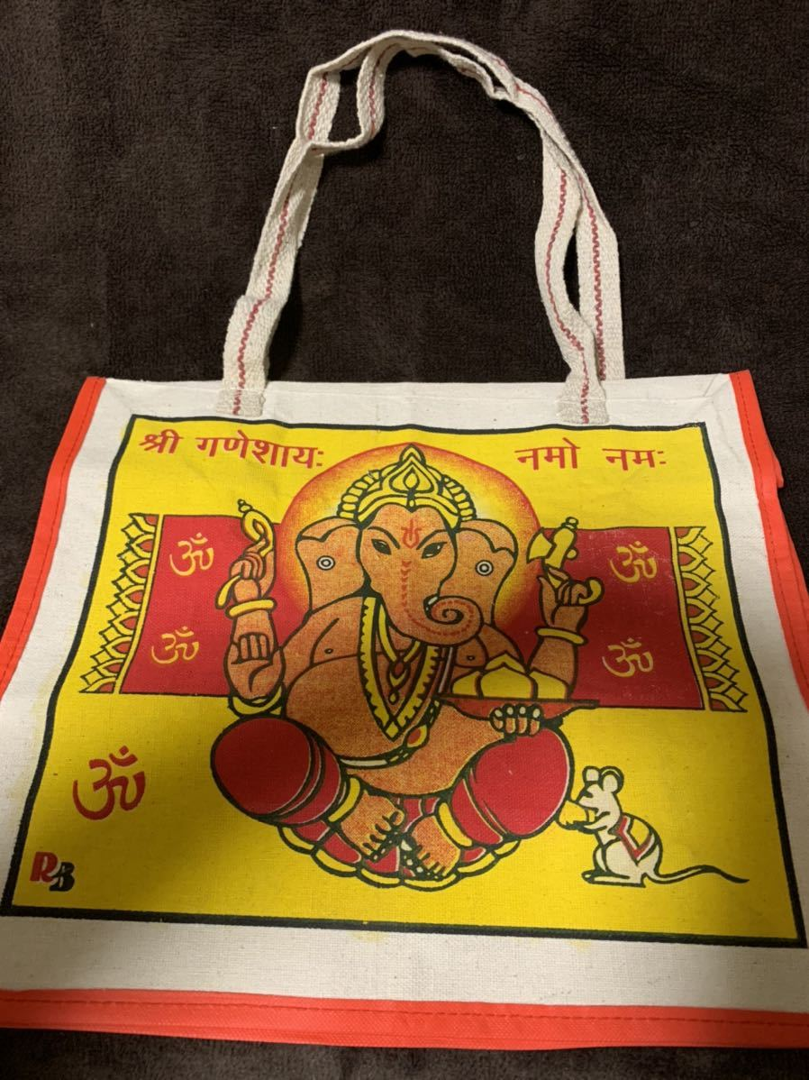 トートバッグ エコバッグ ショッピングバッグ Varanasi India 麻 丈夫なバッグ