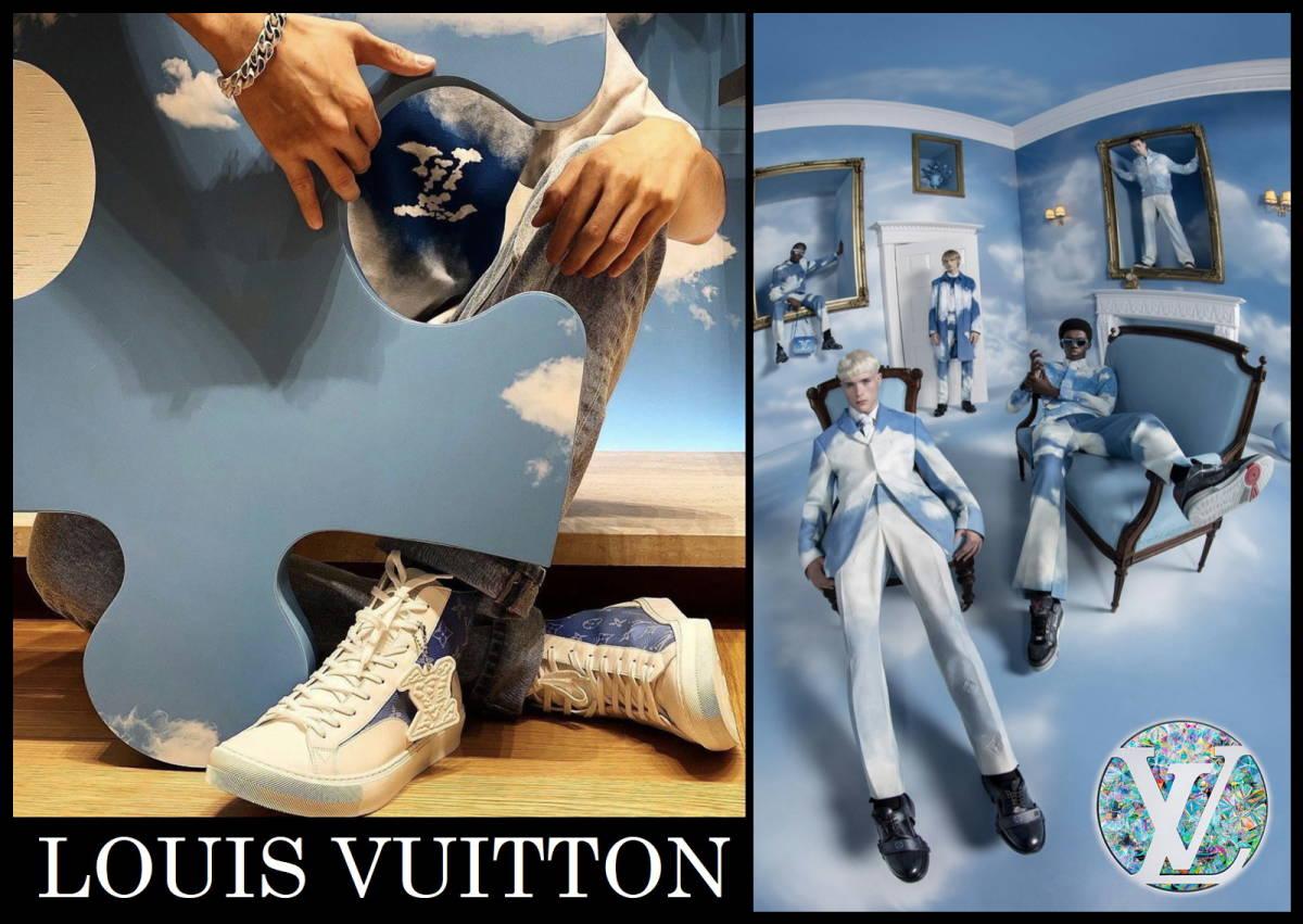 新作 LOUIS VUITTON クラウズスニーカー ルイヴィトン ハイカット 白 青 7 1/2 靴 完売品 モノグラム キャップ ベルト レザー タトゥー LV_画像8