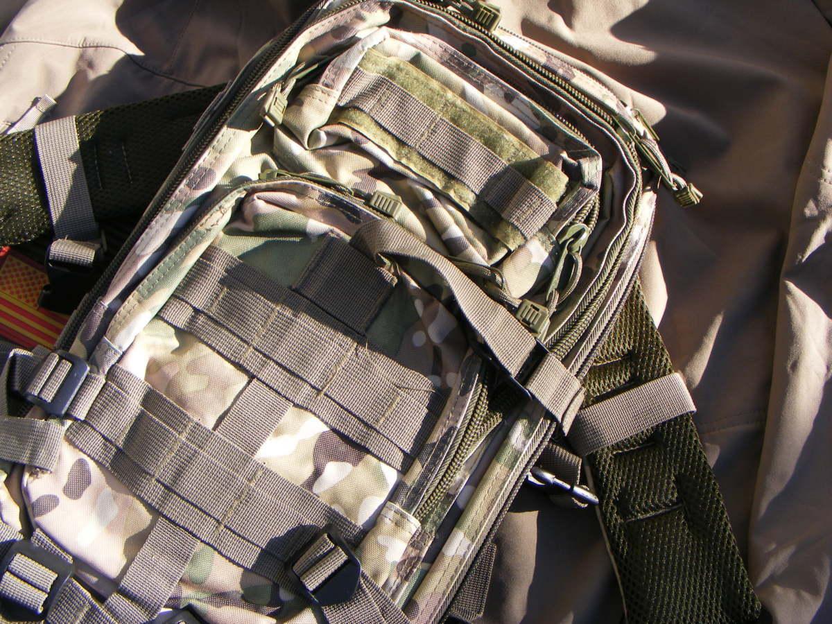 ■ 完全在庫処分価格!サバゲーアフターアウトドア US BDU 迷彩仕様 Assault BAG アサルトバックB 新品未使用品!■_画像7