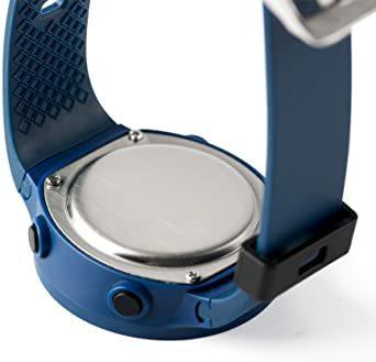 ブルー デジタル腕時計 メンズ スポーツウォッチ 日付表示 アラーム 大文字盤 LED バックライト ストップウオッ_画像4
