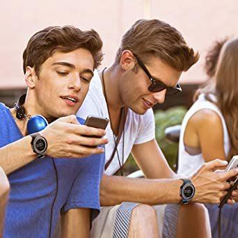 ブルー デジタル腕時計 メンズ スポーツウォッチ 日付表示 アラーム 大文字盤 LED バックライト ストップウオッ_画像7