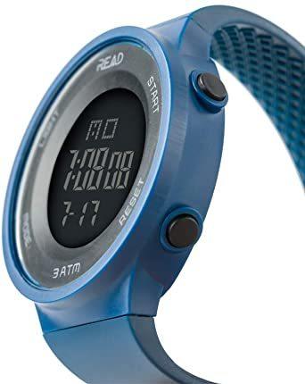 ブルー デジタル腕時計 メンズ スポーツウォッチ 日付表示 アラーム 大文字盤 LED バックライト ストップウオッ_画像6