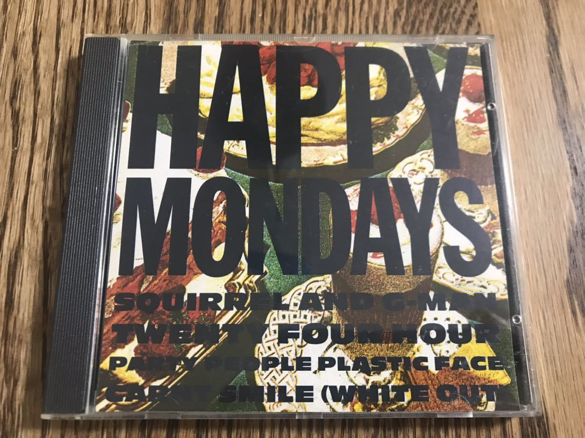 ★☆HAPPY MONDAYS・SQUIRREL AND G-MAN TWENTY FOUR HOUR PARTY PEOPLE PLASTIC FACE CARNT SMILE(WHITE OUT)・USED☆★