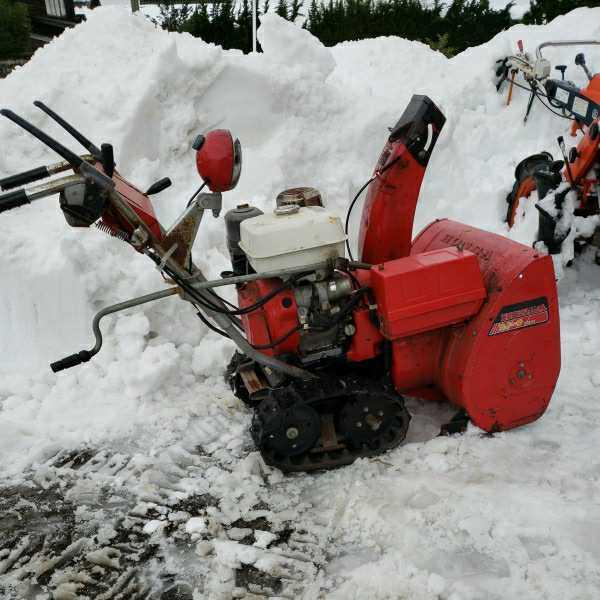 富山からすぐ使える!ホンダ除雪機 HS80 セル付き 実動_画像5