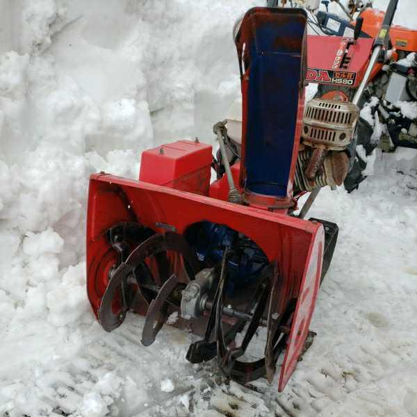 富山からすぐ使える!ホンダ除雪機 HS80 セル付き 実動_画像2