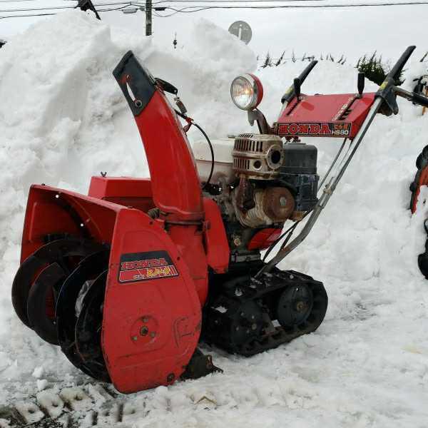 富山からすぐ使える!ホンダ除雪機 HS80 セル付き 実動_画像1