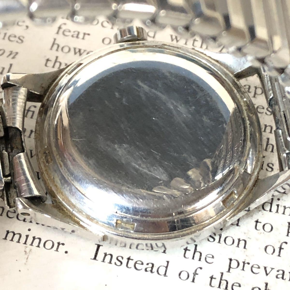 OMEGA オメガ 腕時計 機械式 自動巻 ハーフロータリー SWISS MADE スイス SS 3針 ビンテージ 希少 値下げ交渉あり 稼動品 W1519_画像8