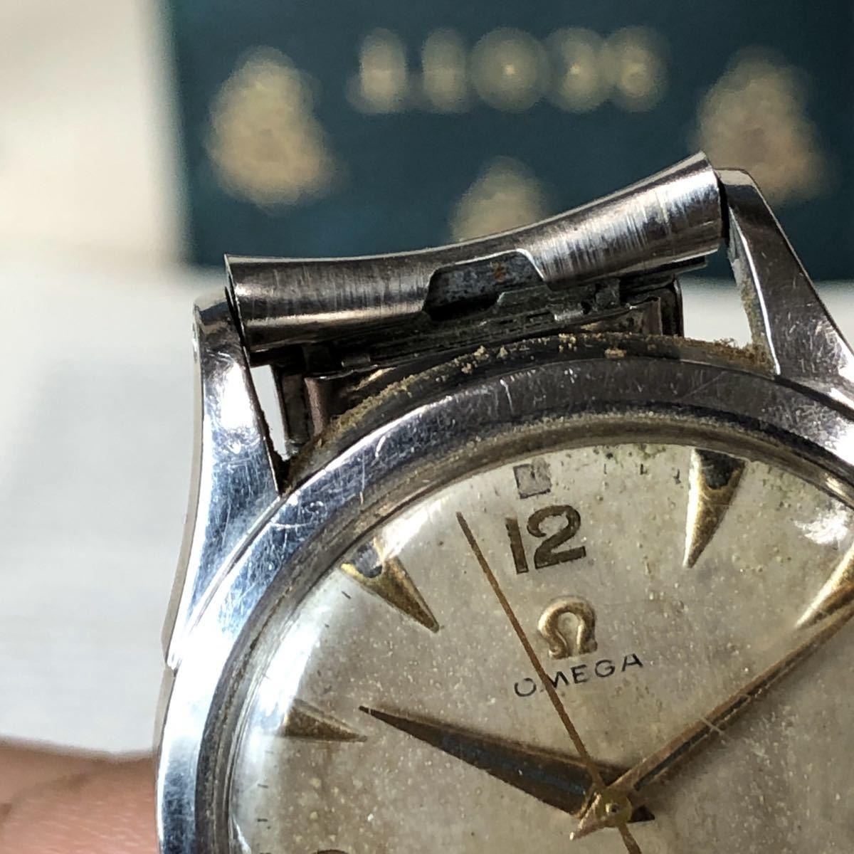 OMEGA オメガ 腕時計 機械式 自動巻 ハーフロータリー SWISS MADE スイス SS 3針 ビンテージ 希少 値下げ交渉あり 稼動品 W1519_画像10