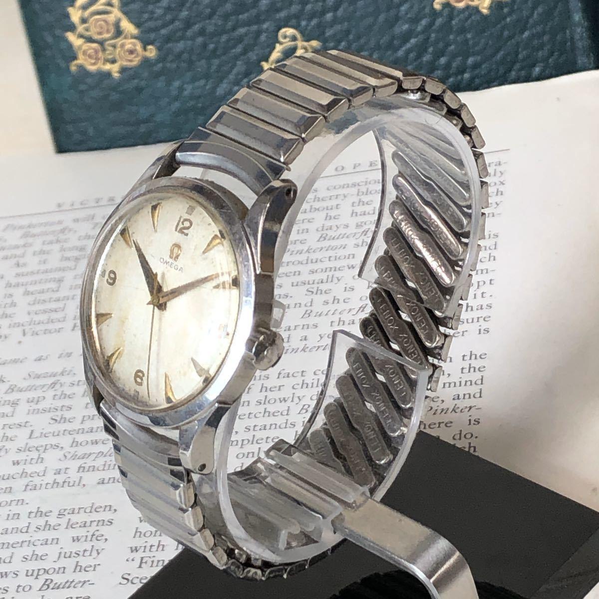OMEGA オメガ 腕時計 機械式 自動巻 ハーフロータリー SWISS MADE スイス SS 3針 ビンテージ 希少 値下げ交渉あり 稼動品 W1519_画像2