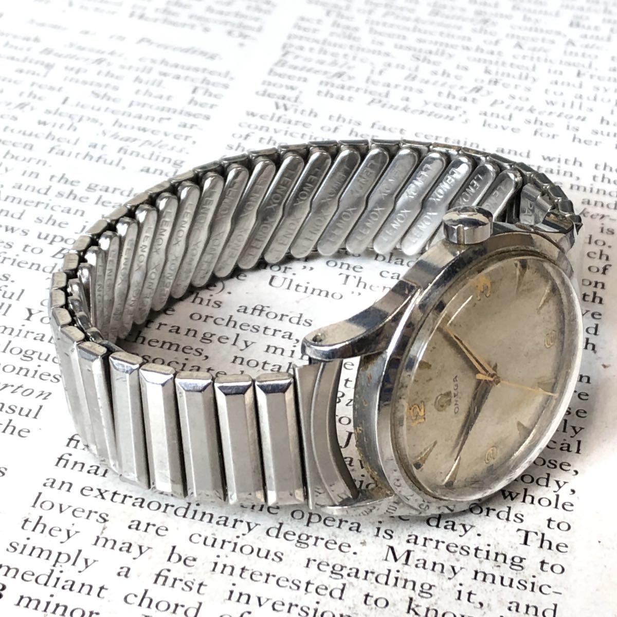 OMEGA オメガ 腕時計 機械式 自動巻 ハーフロータリー SWISS MADE スイス SS 3針 ビンテージ 希少 値下げ交渉あり 稼動品 W1519_画像3