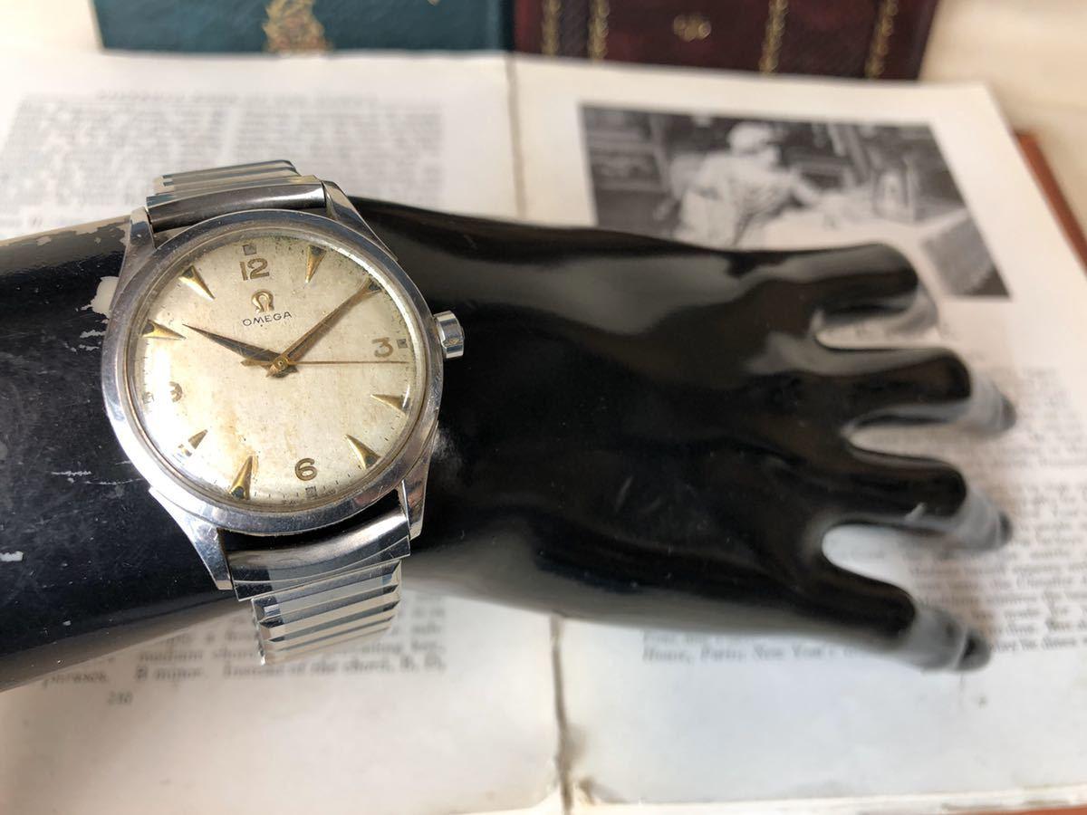 OMEGA オメガ 腕時計 機械式 自動巻 ハーフロータリー SWISS MADE スイス SS 3針 ビンテージ 希少 値下げ交渉あり 稼動品 W1519_画像7