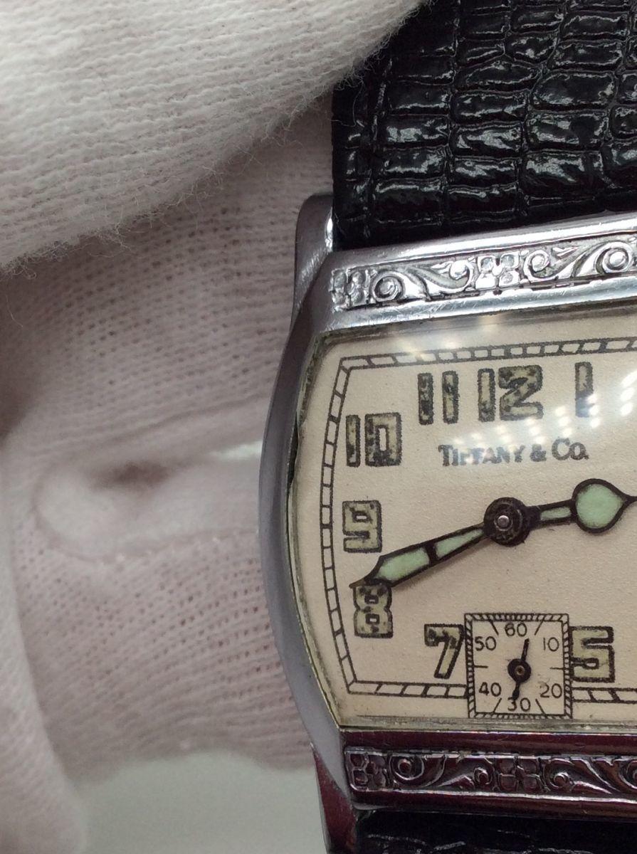 TIFFANY 腕時計 ティファニー Z ヴィンテージ アンティーク 手巻き ベルト社外品 希少◆3107/SBS通り店_風防欠け有り