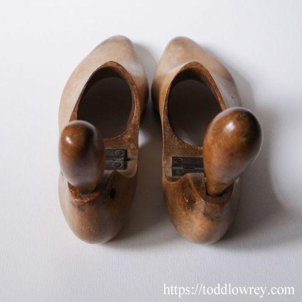 【ロンドンのビスポークシューメーカーから】イギリス アンティーク シューツリー シューキーパー 木製◆Antique Pair of Shoe Trees◆_画像3