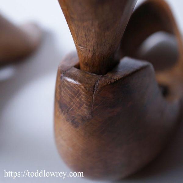 【ロンドンのビスポークシューメーカーから】イギリス アンティーク シューツリー シューキーパー 木製◆Antique Pair of Shoe Trees◆_画像9