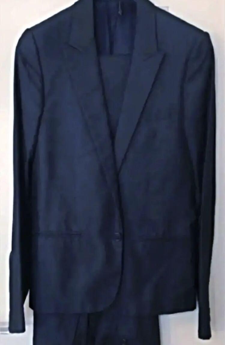 08 Dior homme ディオールオム セットアップ スーツ ジャケット メンズ シルク混合_画像6