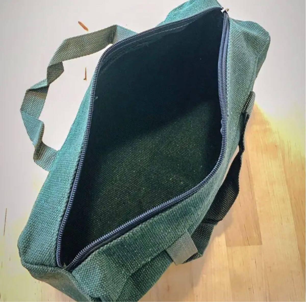 【日本未発売】 ペグ ケース 道具入れ ミリタリー 男 グリーン 緑 キャンバス 鞄 バッグ アウトドア キャンプ テント タープ