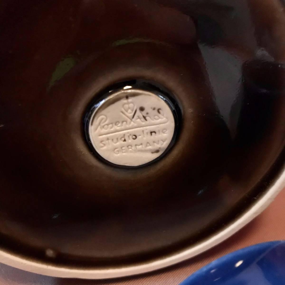 〈送料込〉ローゼンタール ビョルン ヴィンブラッド リキュール セット Rosenthal Bjorn Wiinblad 陶器 食器 ポット ボトル カップ ドイツ_画像8