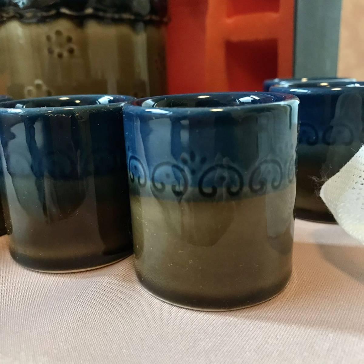 〈送料込〉ローゼンタール ビョルン ヴィンブラッド リキュール セット Rosenthal Bjorn Wiinblad 陶器 食器 ポット ボトル カップ ドイツ_画像5