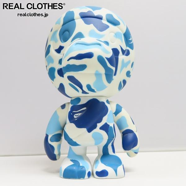 A BATHING/アベイシングエイプ APE×PEPSI/ペプシ サル迷彩柄 マイロフィギュア BLUE CAMO MILO フィギア /000
