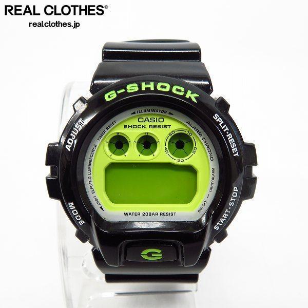 G-SHOCK/Gショック Crazy Colors/クレイジーカラーズ 黒×黄緑 時計/ウォッチ DW-6900CS-1JF【動作未確認】 /000