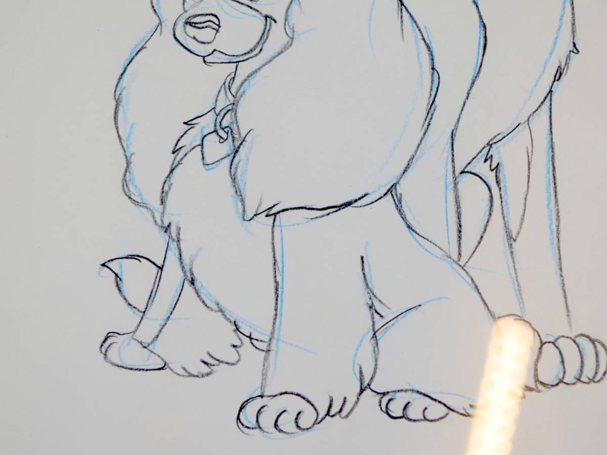 ディズニー わんわん物語 スケッチ レディとトランプ / 手書き イラスト Disney デッサン 色鉛筆 原画_画像3