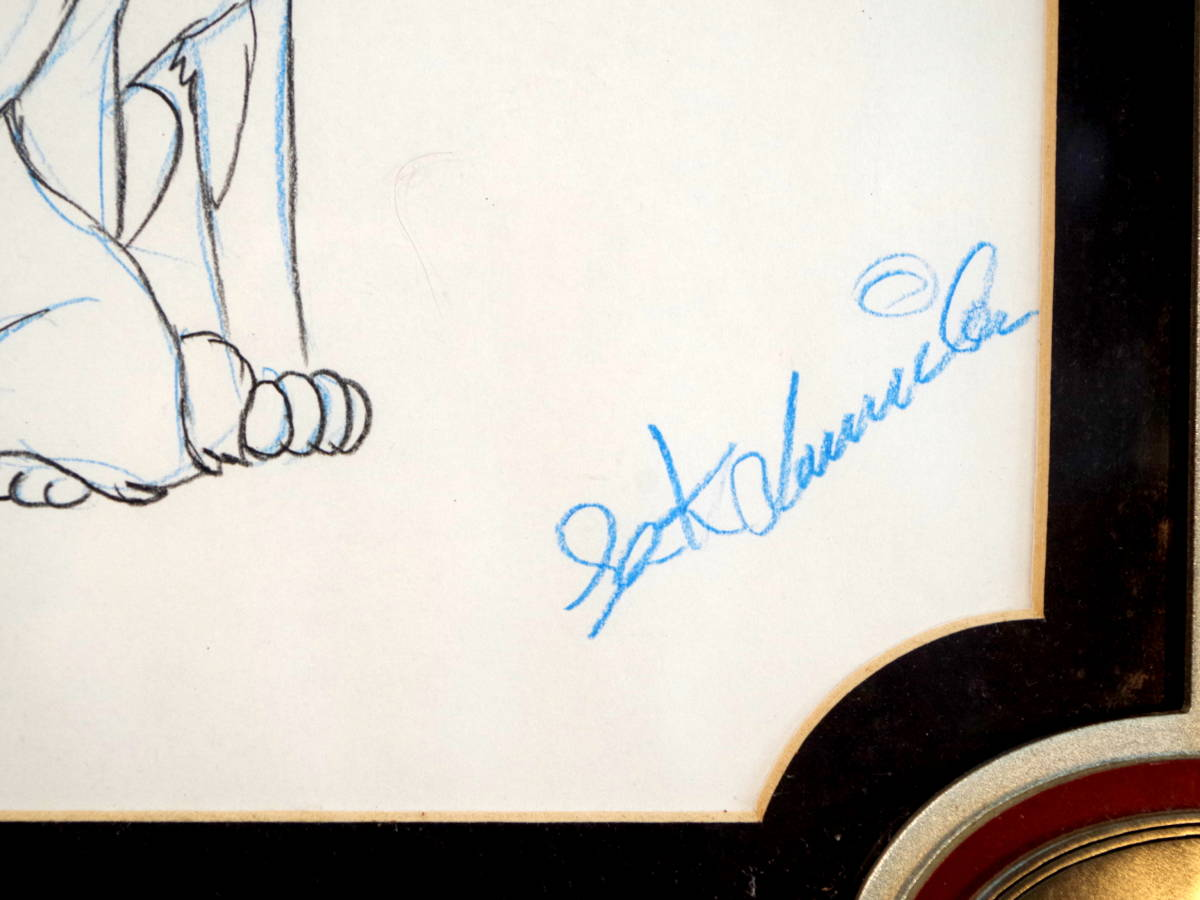 ディズニー わんわん物語 スケッチ レディとトランプ / 手書き イラスト Disney デッサン 色鉛筆 原画_画像4