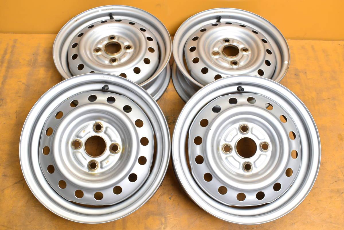 201224501547210 ダイハツ 14x4.5J +45 4H PCD100 ハブ径56mm 1本価格_画像1