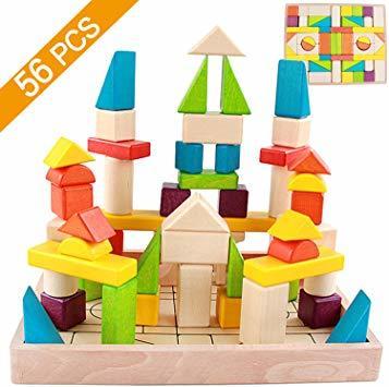 Tebrcon 積み木 子供 知育玩具 セット 木製 赤ちゃん おもちゃ 立体パズル 男の子 女の子 誕生日のプレゼント 人気 _画像1