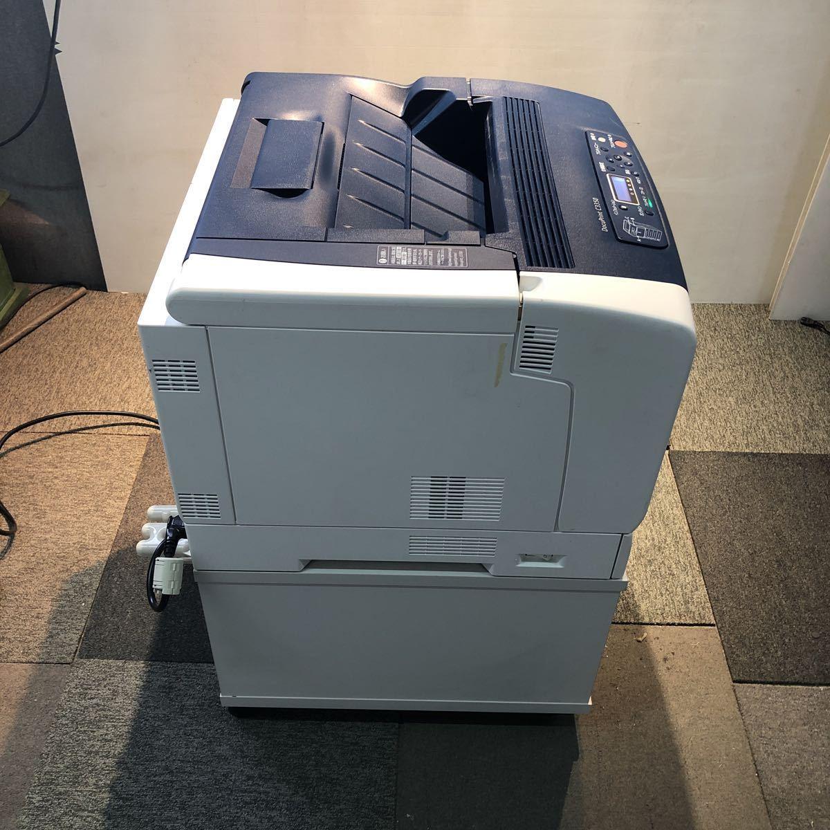 FUJI XEROX 富士ゼロックス A3 カラーレーザー DocuPrint C3350 2段給紙 両面印刷 専用キャスタ台 プリンター コピー機 ファックス_画像4