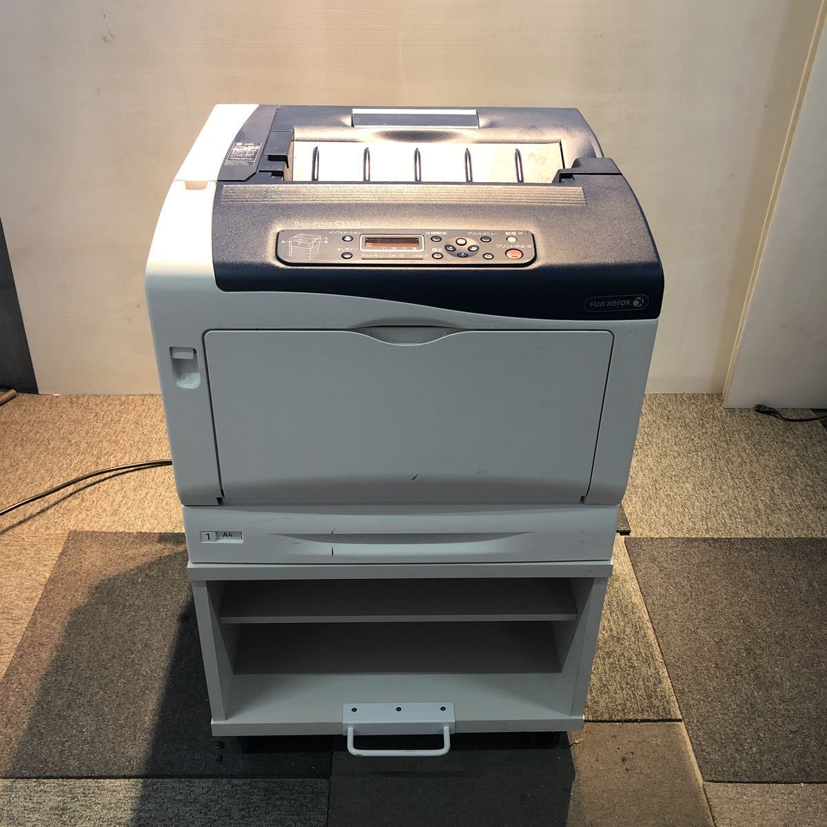 FUJI XEROX 富士ゼロックス A3 カラーレーザー DocuPrint C3350 2段給紙 両面印刷 専用キャスタ台 プリンター コピー機 ファックス_画像1