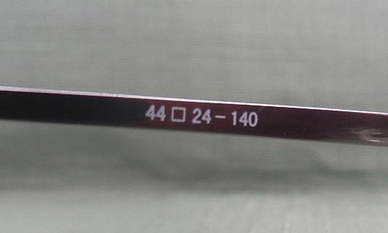 Slimly スリムリー メガネフレーム SU-113 F・Ti-P T・B-Ti 44□24-140 COL04 チタン 日本製 展示未使用品 めがね 眼鏡 札幌市西区_画像7