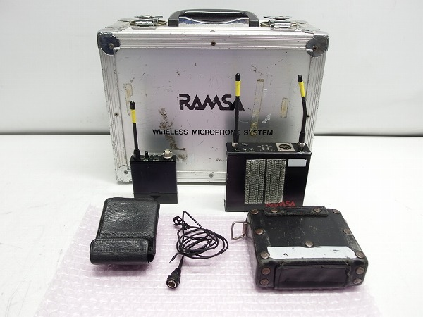 Panasonic RAMSA ワイヤレスマイクセット WX-RB700 WX-RB400 業務用 *270727_画像1