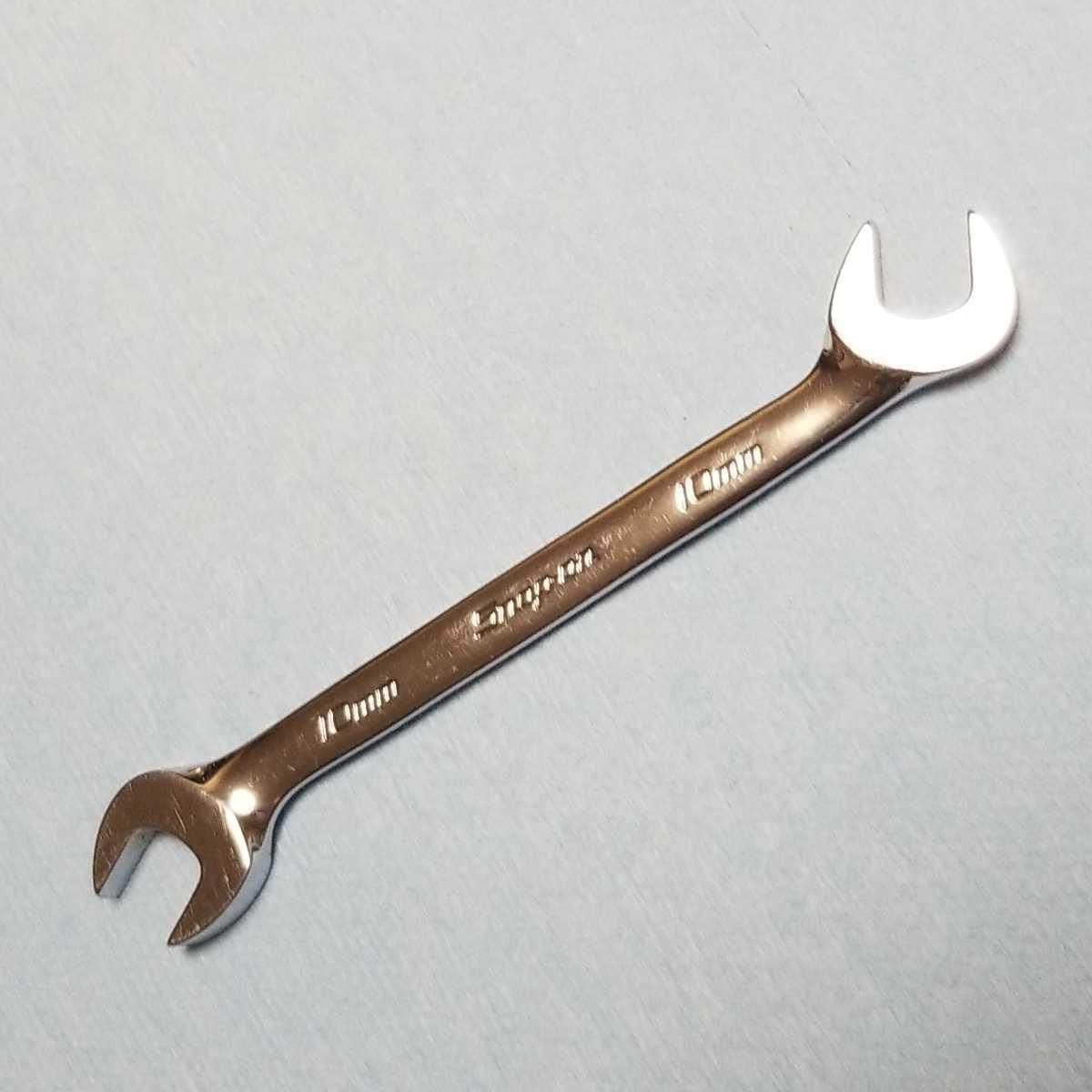 10mm スナップオン 4アングル スパナ VSM5210A 約12.8cm ギザなし 中古品 保管品 SNAPON SNAP-ON Snap-on 両口スパナ_画像1
