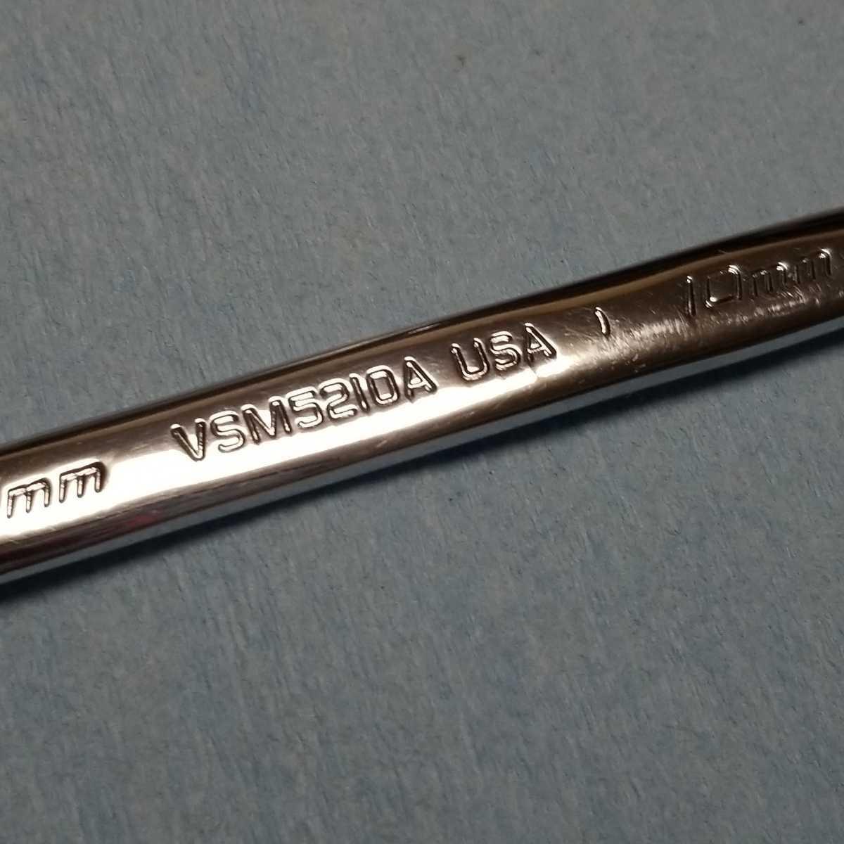 10mm スナップオン 4アングル スパナ VSM5210A 約12.8cm ギザなし 中古品 保管品 SNAPON SNAP-ON Snap-on 両口スパナ_画像6