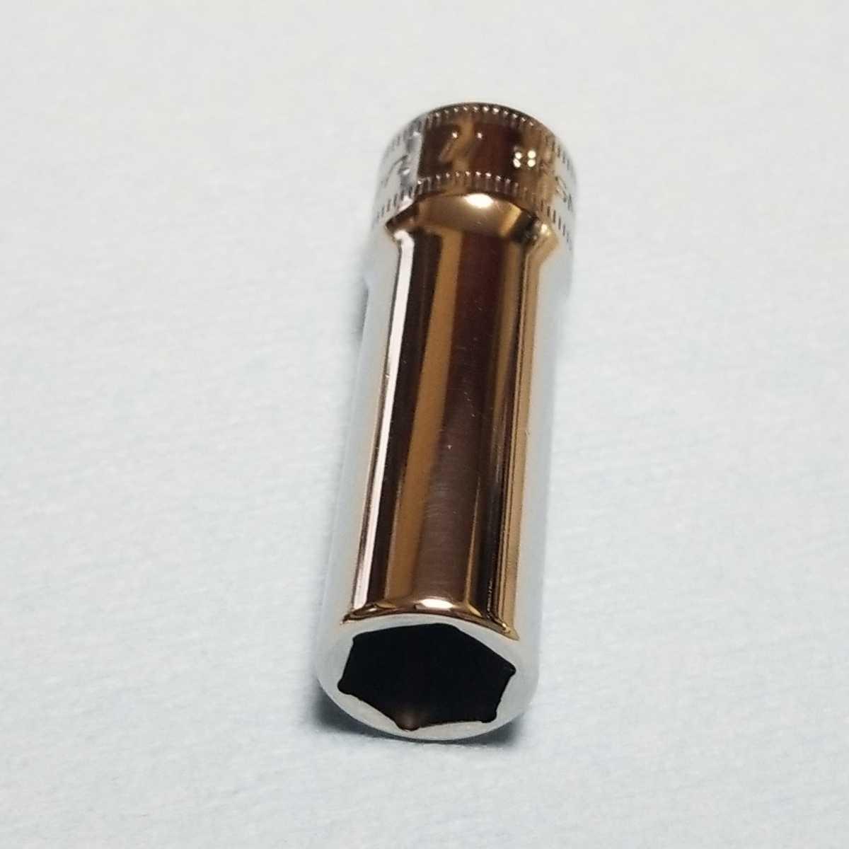 11mm 3/8 ディープ スナップオン SFSM11 (6角) 中古品 超美品 保管品 SNAPON SNAP-ON ディープソケット ソケット 送料無料 Snap-on _画像1